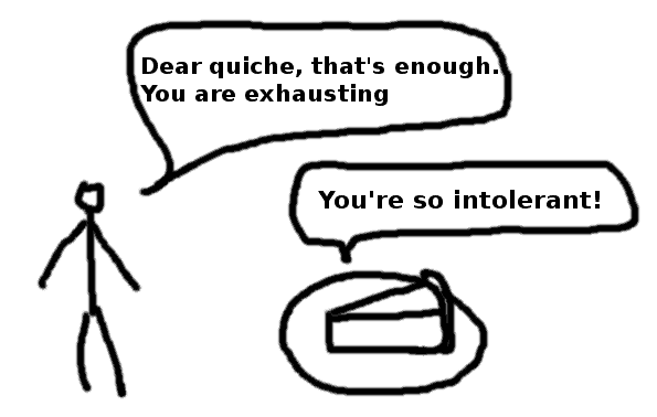 food intolerance exhausted quiche - comic