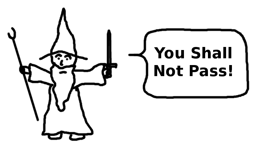 you shall not pass - comic