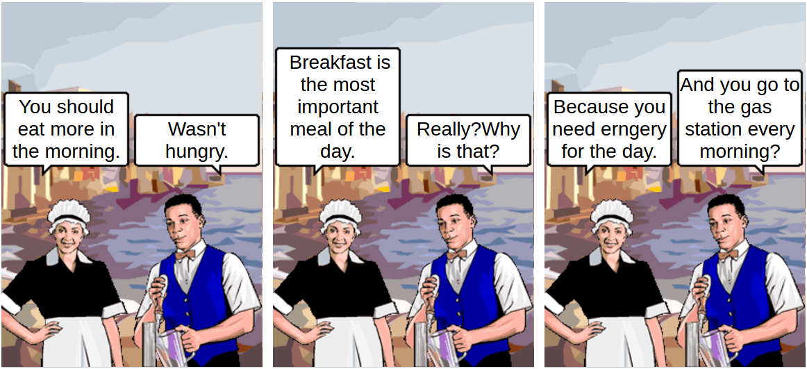intermittent fasting skipping breakfast - comic