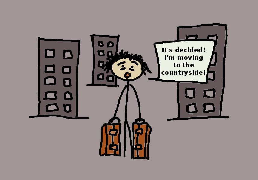 Fibromyalgic leaving city - comic