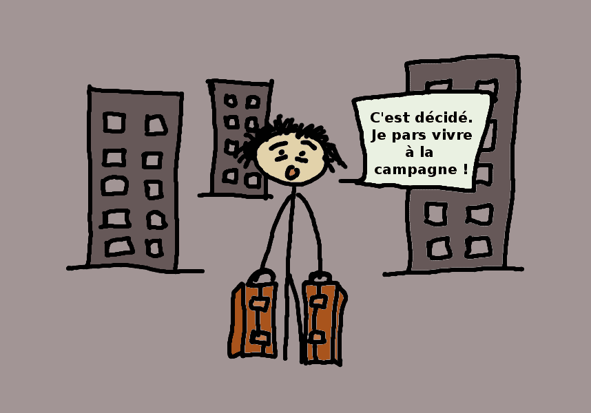 Fribromyalgic leaving the city - comic