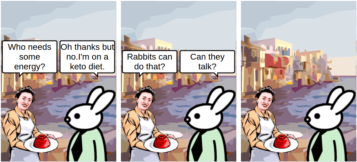 keto diet rabbit - comic
