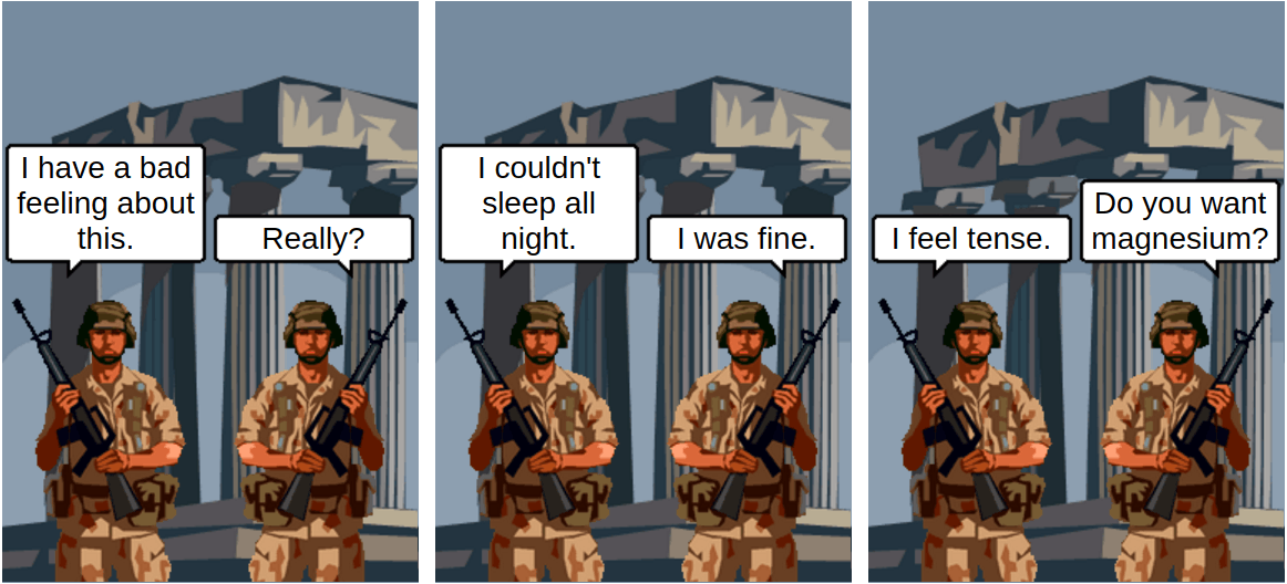 tense military and magnesium - comic