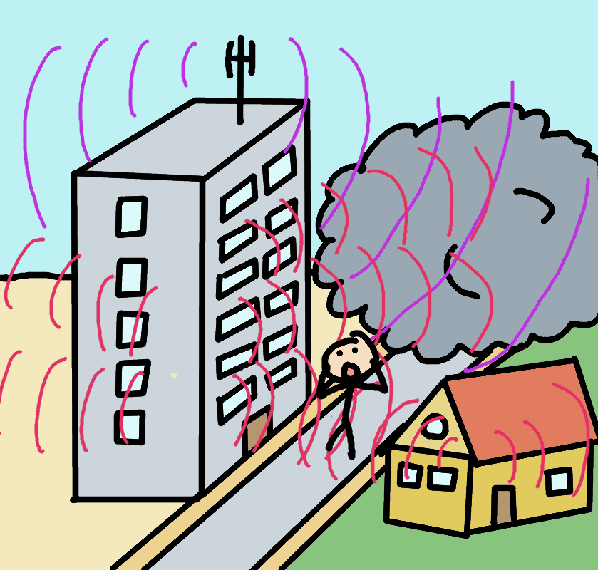 electromagnetic waves in the city - comic