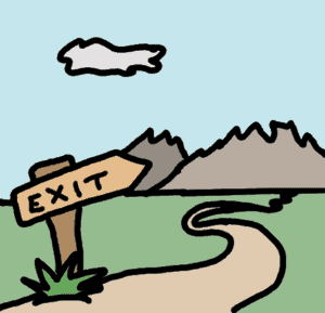 route to the exit - comic