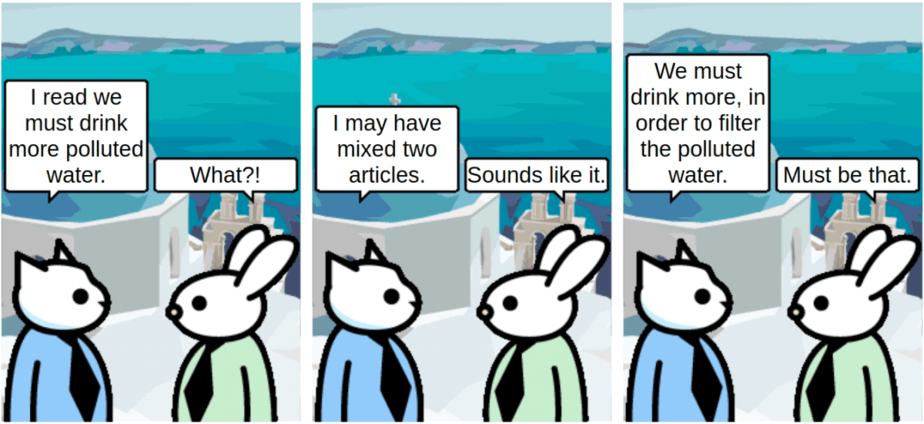Drink more polluted water - comic
